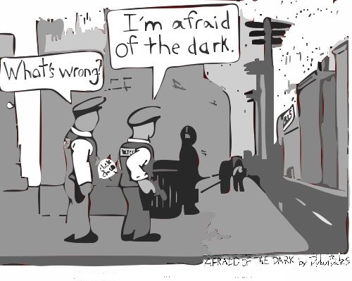 Afraid Of The Dark Cartoon